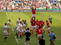 Engeland v het Rugbyunie van Wales in Twickenham royalty-vrije stock afbeelding