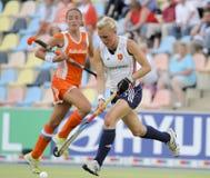 Engeland v Holland.Hockey Europese Kop Duitsland 2011 Stock Afbeelding