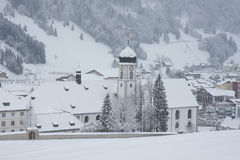 Engelberg Abbey in winter Royalty Free Stock Image