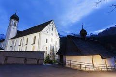 Engelberg abbotskloster i Engelberg Royaltyfria Foton