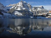 engelberg eugensee瑞士 免版税库存照片