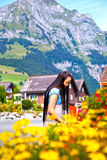 engelberg orientalisk switzerland turist Arkivbild