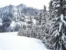 Winter. Engelberg Schweiz Alpen Stock Photo