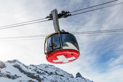 Engelberg, Switzerland. DECEMBER 11: Outside views of the infrastructure  of the ski resort Engelberg on December 11, 2015. Engelberg is a popular Ski resort Royalty Free Stock Photos