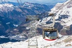 ENGELBERG, SWITZERLAND. DECEMBER 11: Outside views of the infrastructure  of the ski resort Engelberg on December 11, 2015. Engelberg is a popular Ski resort Royalty Free Stock Image