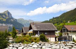 Engelberg Village in the Alps Stock Photography
