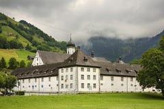 Engelbergabdij (Kloster Engelberg) zwitserland Stock Foto