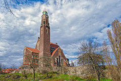 Engelbrekts教会在斯德哥尔摩,瑞典 免版税库存图片