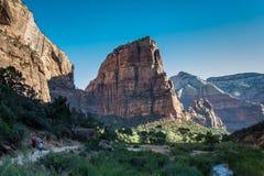 Engelen die in Nationaal Park Zion landen Royalty-vrije Stock Afbeeldingen