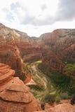 Engelen die Zion National Park landen Royalty-vrije Stock Foto's