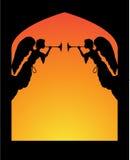 Engelen in een Boog stock illustratie