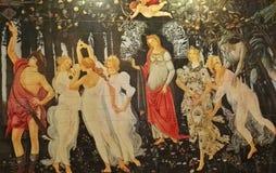 Engelen en demonen, Griekse goden in kunstwerk stock illustratie