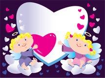 Engelen en hart vector illustratie