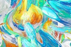 Engelen en koepels, het schilderen Royalty-vrije Stock Afbeeldingen