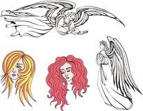 Engelen en meisjes vector illustratie