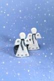 Engelen en sneeuw Stock Foto's