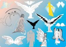 Engelen en vleugels royalty-vrije illustratie