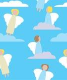engelen en wolken royalty-vrije illustratie