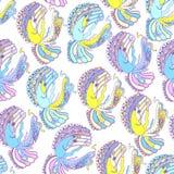 Engelen grappig naadloos patroon stock illustratie