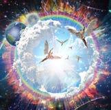 Engelen het vliegen stock illustratie