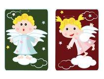 Engelen, kaarten. vector illustratie