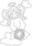 Engelen kleurende pagina royalty-vrije illustratie