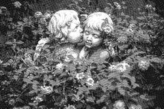 ENGELEN IN LIEFDE - Digitale grafische illustratie royalty-vrije illustratie