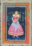 Engelen met hart royalty-vrije illustratie