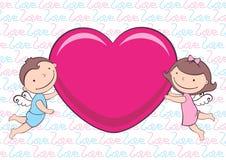 Engelen met hart vector illustratie