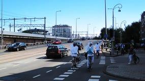 Engelen op fietsen royalty-vrije stock fotografie