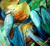 Engelen over een kerkkoepel royalty-vrije illustratie