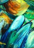 Engelen over een kerkkoepel,   het schilderen Royalty-vrije Stock Afbeeldingen