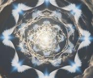 Engelen in tunnelwolken vector illustratie