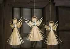 Engelen van stro Stock Foto