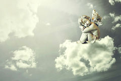Engelenslaap op de wolk stock fotografie