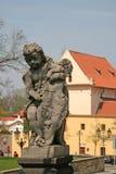 Engelenstandbeeld bij de Geboorte van de Kerk van Christus van Loreto in Praag Royalty-vrije Stock Foto's