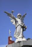 Engelenstandbeeld bij Recoleta-begraafplaats, Buenos aires Stock Foto's