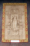 Engelenstandbeeld in de tempel Stock Foto