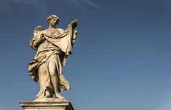 Engelenstandbeeld op Ponte Sant Angelo Rome Italy Royalty-vrije Stock Foto