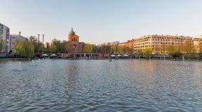Engelenvijver in Berlijn, Duitsland stock afbeelding