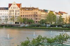 Engelenvijver in Berlijn, Duitsland royalty-vrije stock afbeeldingen