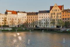 Engelenvijver in Berlijn, Duitsland royalty-vrije stock afbeelding