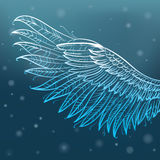 Engelenvleugels, vectorillustratie Stock Illustratie
