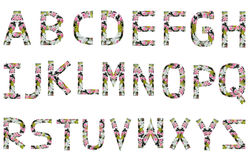 Engels alfabet. Stock Illustratie