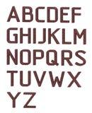 Engels alfabet De brieven worden gemaakt van rode bakstenen het 3d teruggeven Royalty-vrije Stock Fotografie