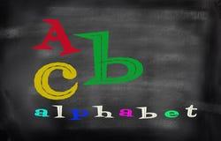 Engels alfabet met funnkleur Stock Foto's