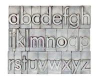Engels alfabet in metaaltype Stock Afbeeldingen