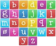 Engels alfabet van a aan z royalty-vrije illustratie