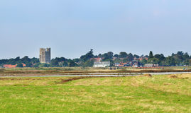 Engels Dorp Orford Ness in Suffolk Stock Foto's