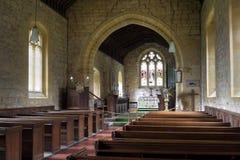 Engels kerkbinnenland Stock Afbeeldingen